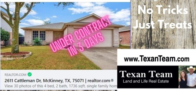 UNDER CONTRACT IN 3 DAYS – WE APPRECIATE OUR CLIENT TRUSTING US – Our newest listing is likely the cleanest and most conveniently located home we have seen in a long time. Close to McKinney ISD schools, Collin College, I-75 and 380.  The 4th bedroom is a flex space and the home has a new heating and cooling system plus tile and hardwoods and sturdy plantation shutters. Possession negotiable. $349,000.