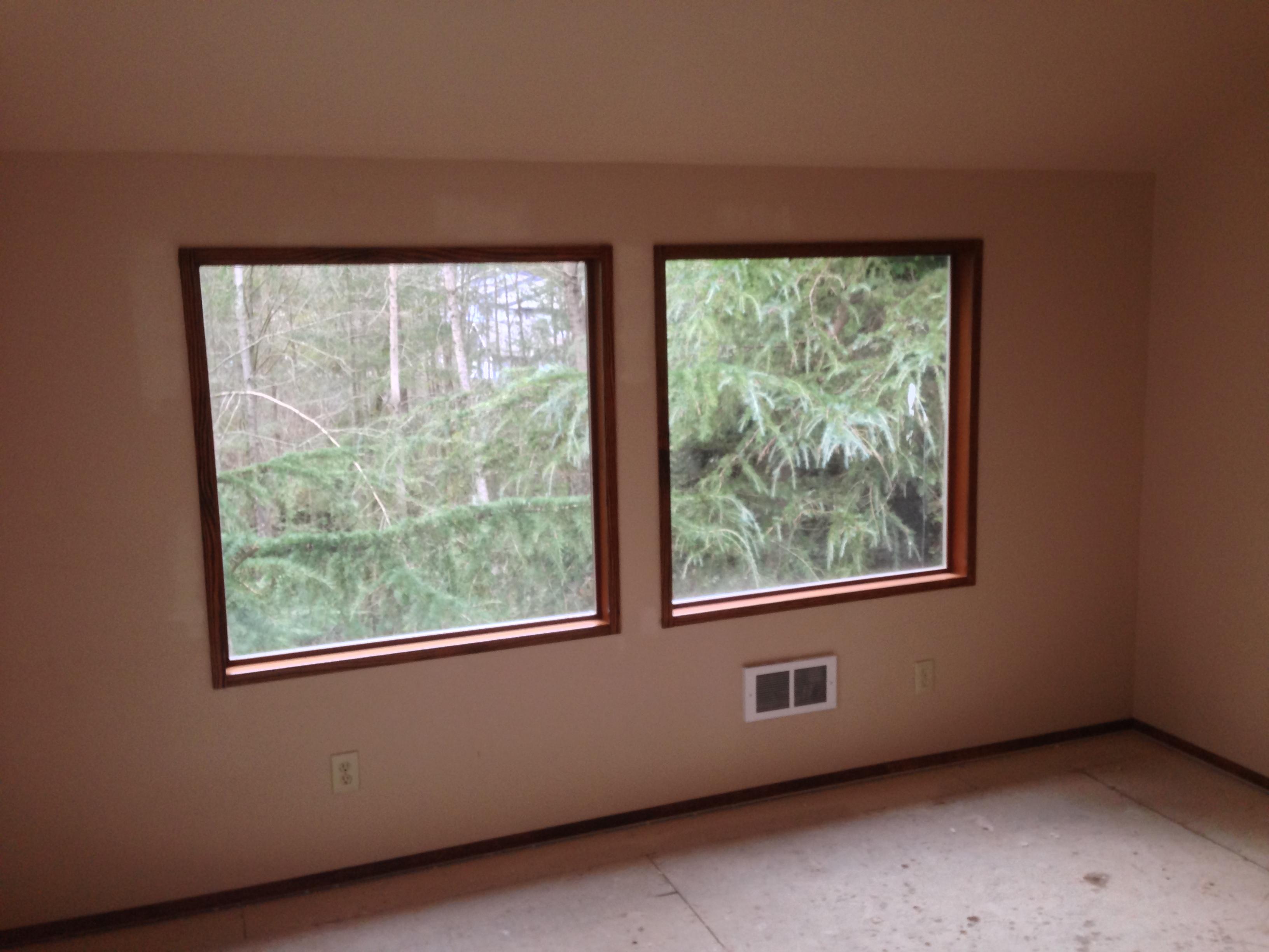 stained window trim