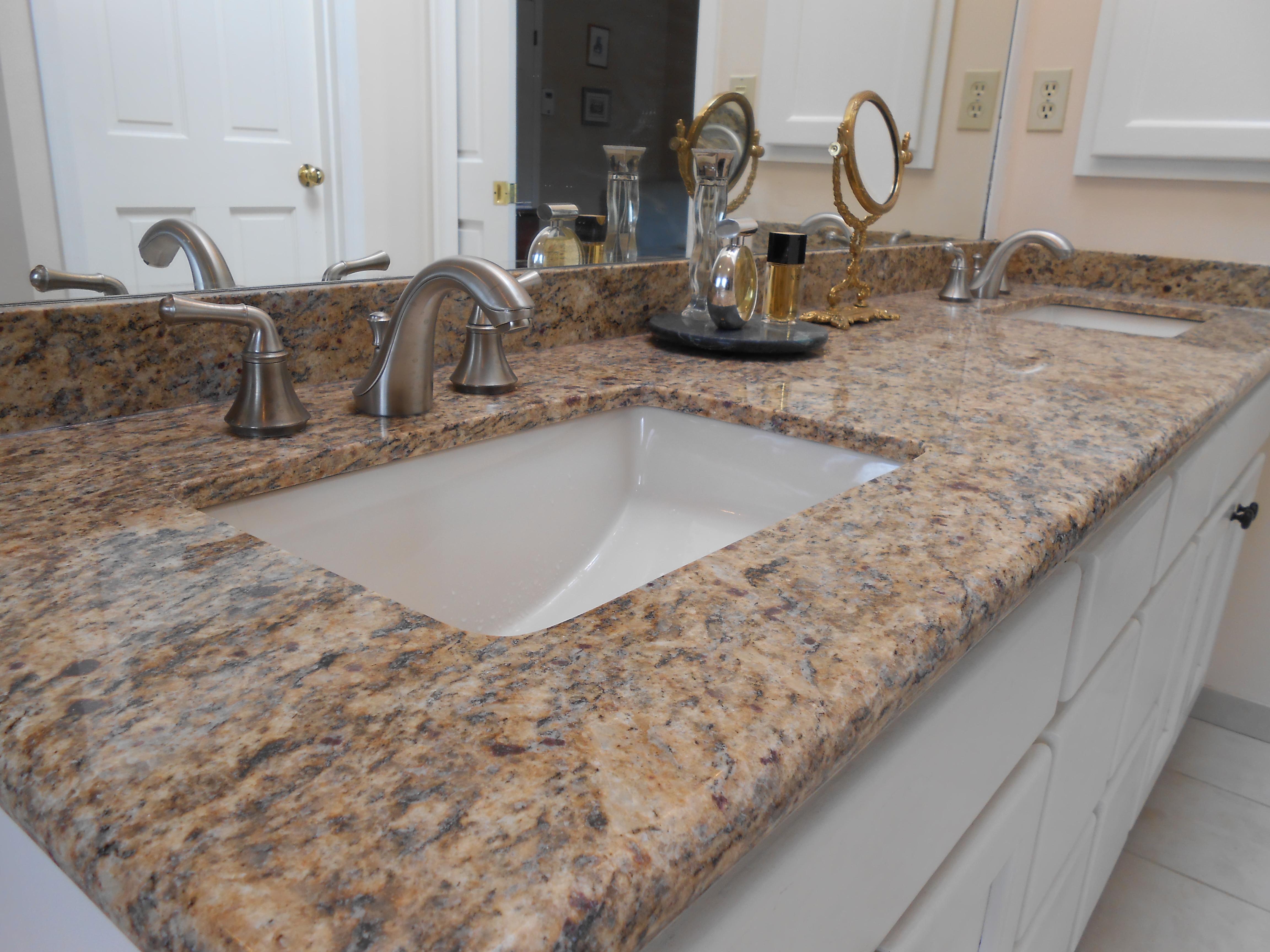 Granite slab countertop