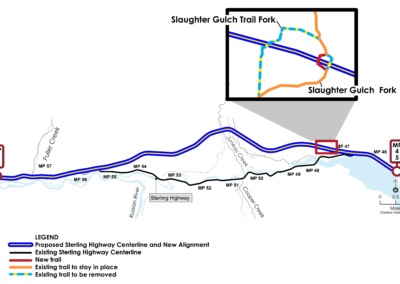 Slaughter Gulch Trail Construction