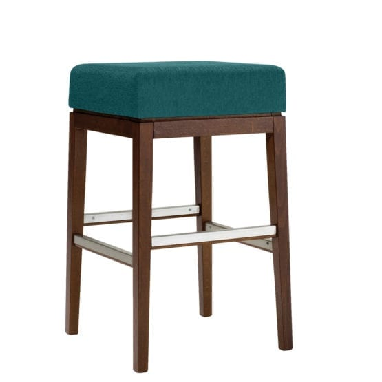 Aceray 583NB backless bar stool with solid wood frame and 17-inch wide upholstered seat