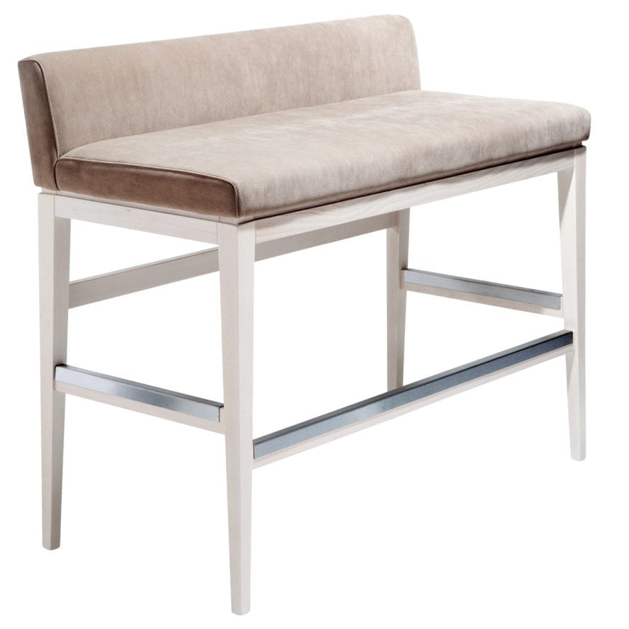 Aceray 683LBLOVE low back counter sofa with wood frame and upholstered seat and back