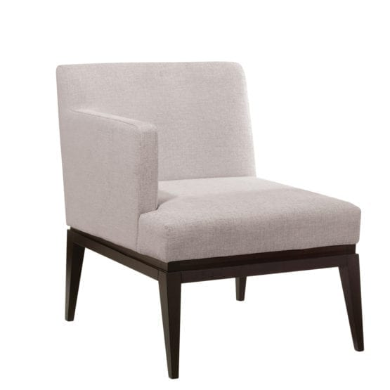 Aceray 783 one-arm lounge armchair with beech wood frame and upholstered seat and back