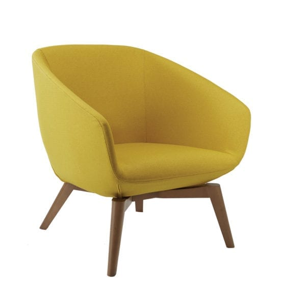 Aceary Ampio-7SLED lounge armchair with wood leg base