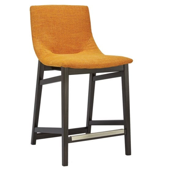 Aceray Ballo-6 counter stool with orange upholstery
