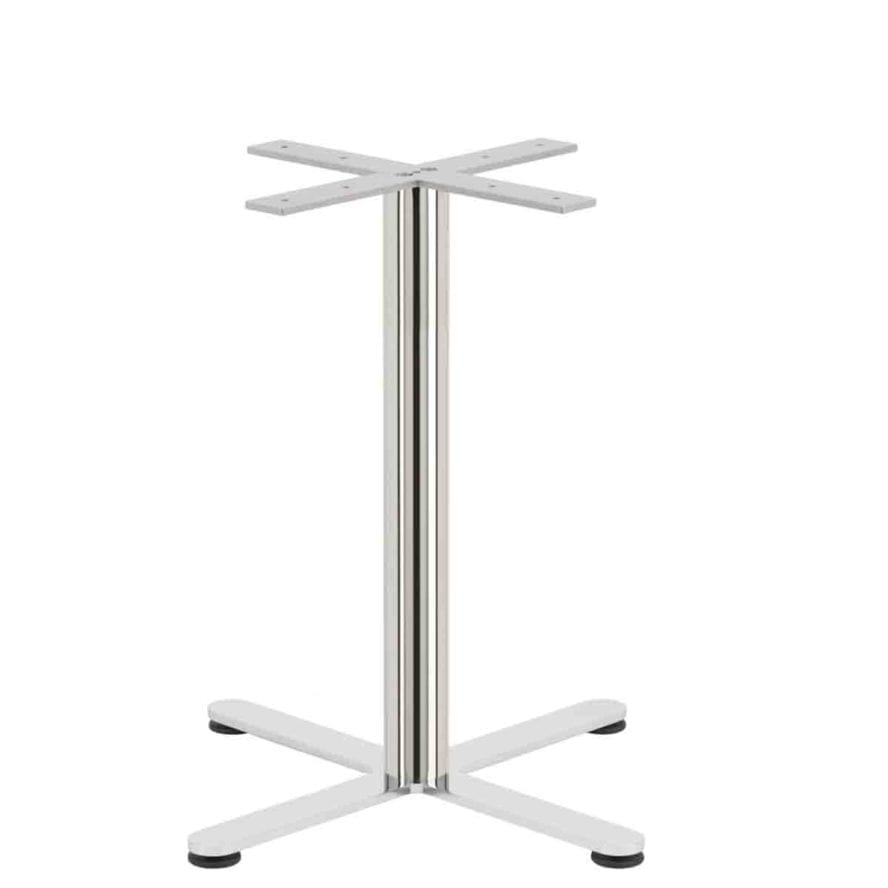 Aceray Strato-D dining table base in polished stainless steel