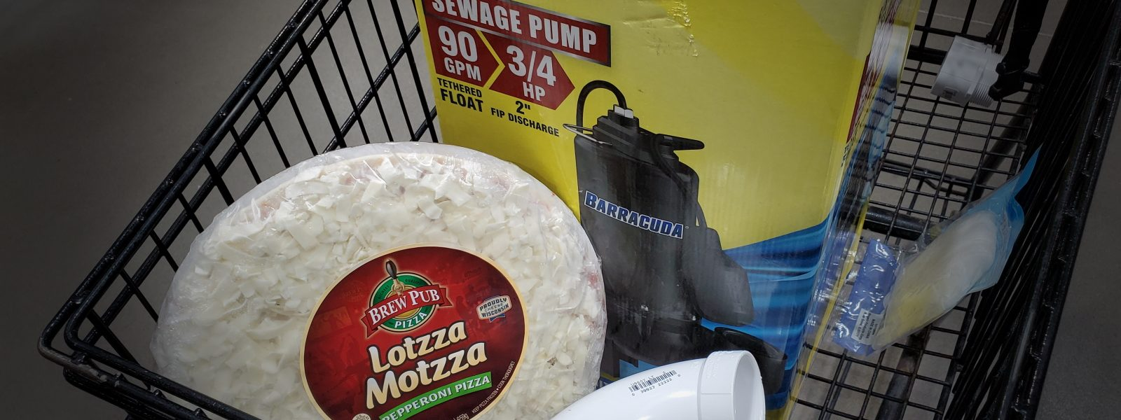 pizza and a pump