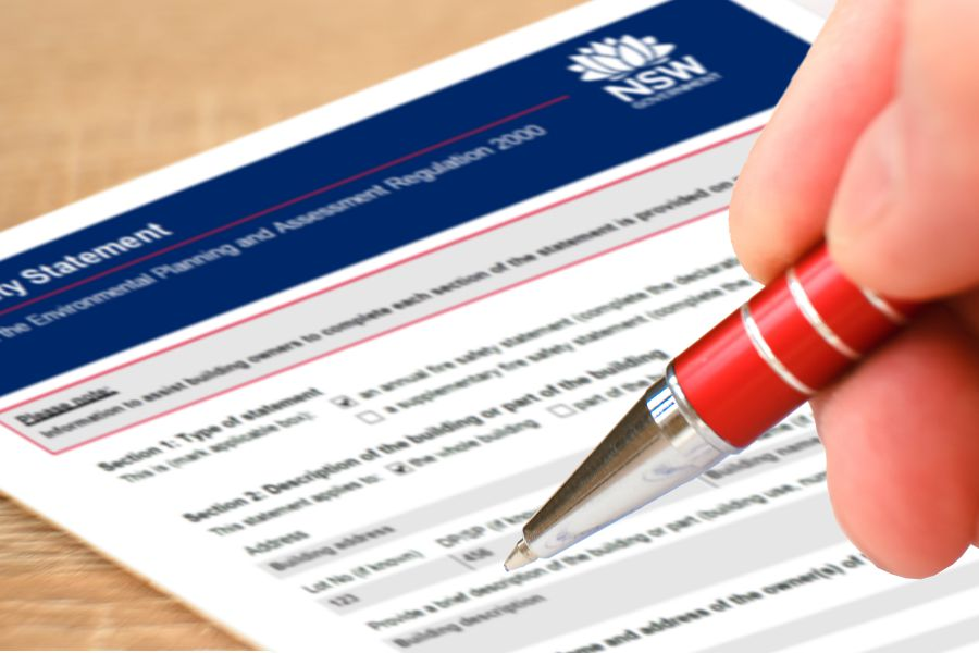 Completing your fire safety statement