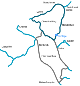 Canal routes