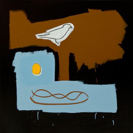 BIRD EGG NEST (sold)-48x48-Acrylic on Canvas