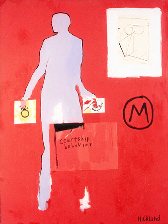 COURTSHIP BEHAVIOR-36x48-Acrylic on Canvas