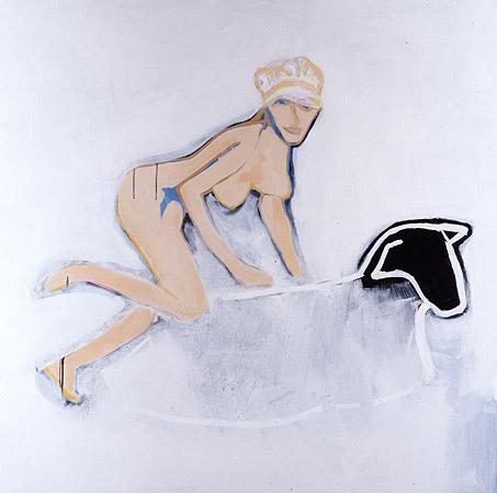 DAGMAR & BLACK SHEEP-48x60-Acrylic on Canvas (SOLD)