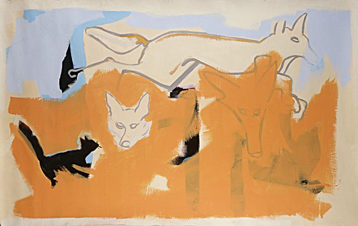 JACKALS-76x48-Housepaint on Canvas