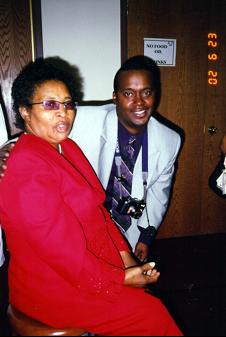 Rev. Ann McDonald, 2002 (and my son Wendal Dorsey)