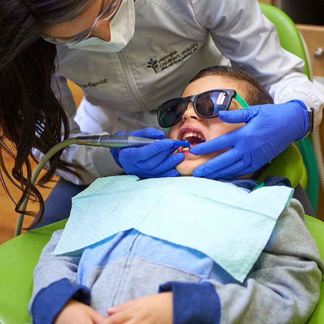 Child Getting Dental Cleaning