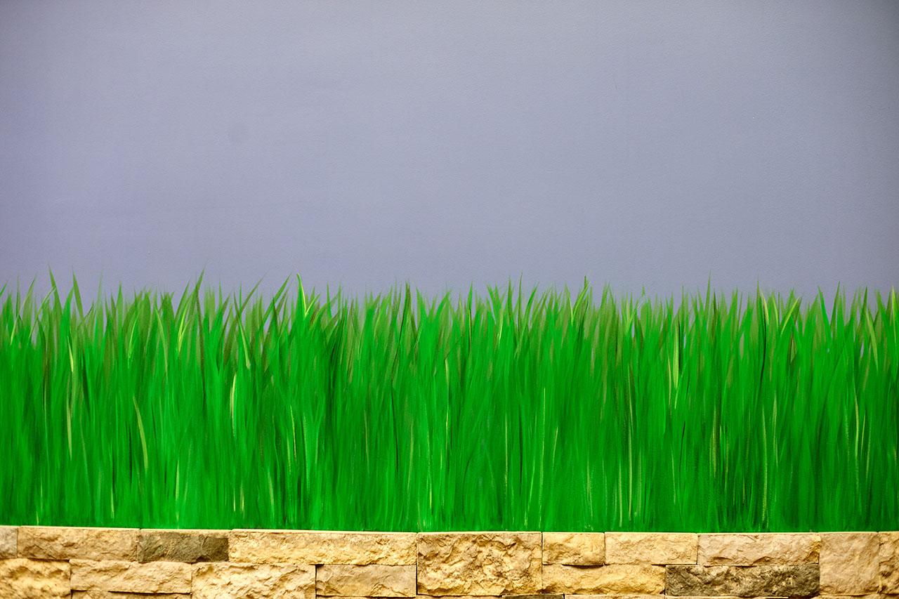 Nice Paining on Wall of Grass