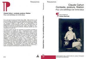 Oberhuber_Cahun-Contexte-posture-filiation_couverture