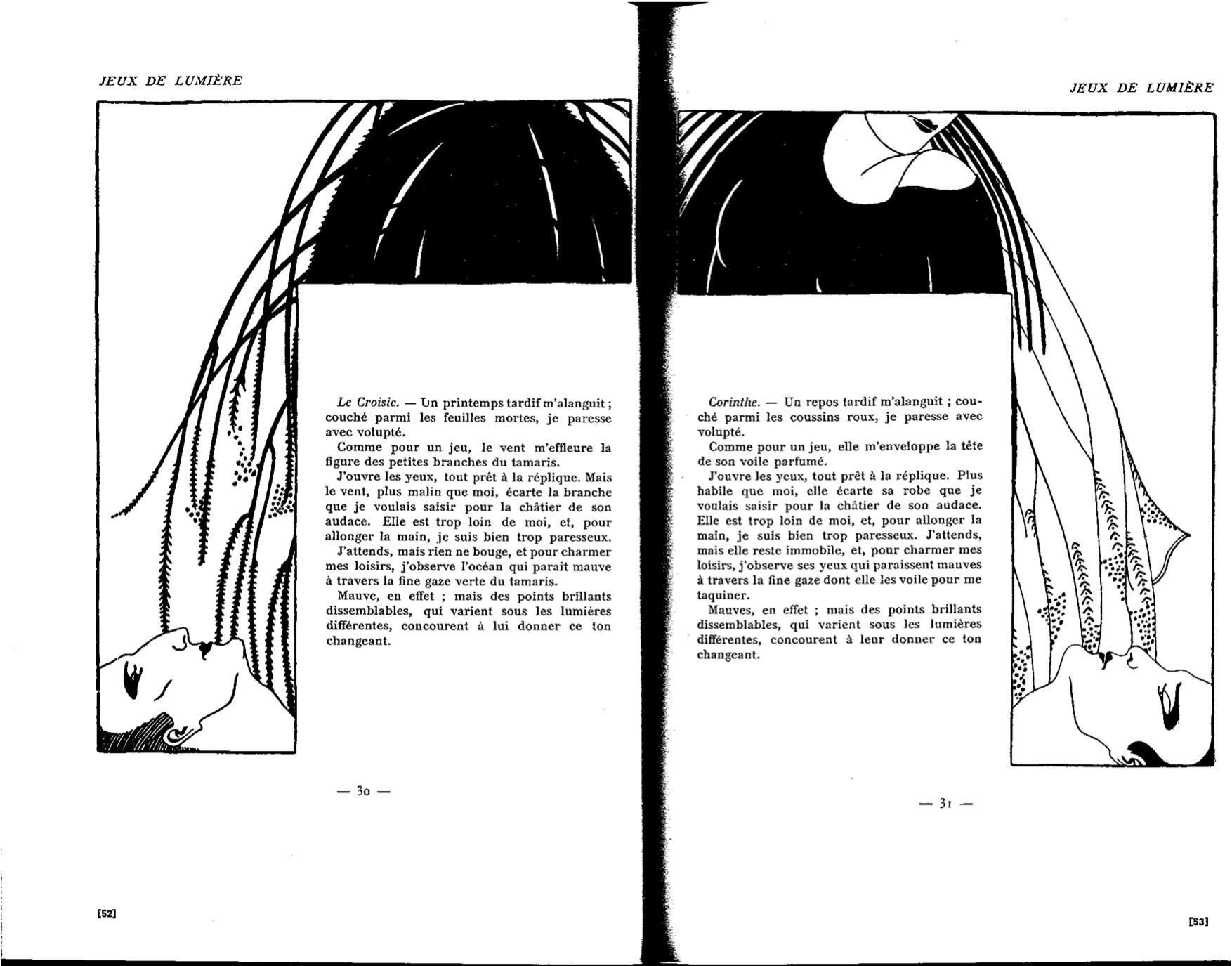 Claude Cahun, Marcel Moore, «Jeux de lumière», Vues et visions (1914-1919), op. cit., p.30-31 [52-53].