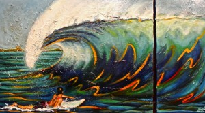 ADRIANS WAVE Oil on canvas