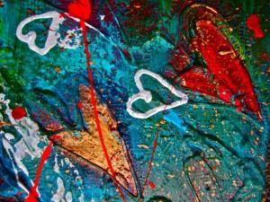 HANNAH'S HEART (close up) SOLD