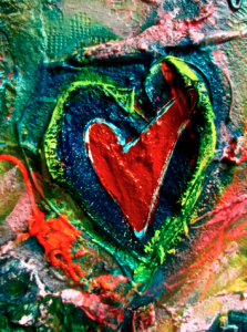 DENIM HEART SOLD