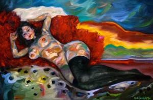 LAUREN Oil on canvas 51cm x 77cm FOR SALE $1950