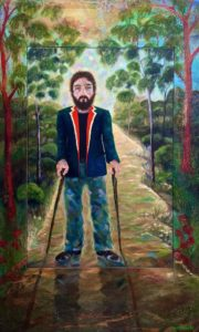 LOST SOLDIER Oil on canvas and wax on board 140cm x 85cm SOLD