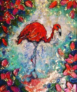 Flamingo Bloom 1 SOLD