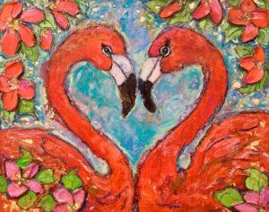 Flamingo Lovers SOLD