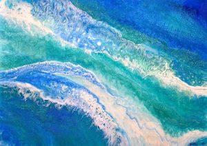 Aqua Sea 122 x 84cm $1600 SOLD