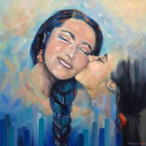 KISS OF AN ANGEL 77x77 OIL ON CANVAS