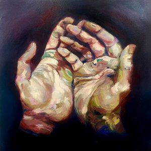HANDS SOLO OIL ON CANVAS
