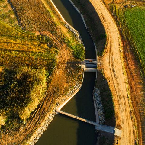Lower Kruisvallei intake canal and coarse screen