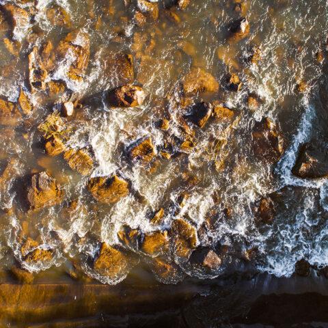 Water over rocks 3