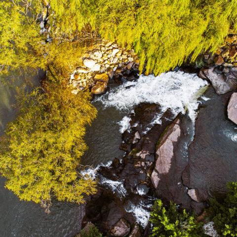 Water over rocks 5