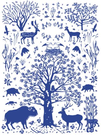 Wilding Environment Print Blue