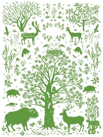 Wilding Environment Print Green