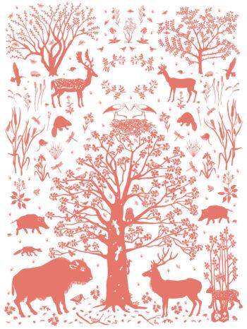 Wilding Environment Print Pink