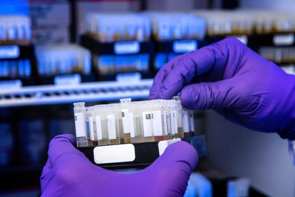 Forensic Toxicology Expert Witness Lyle Hayes holding test tubes