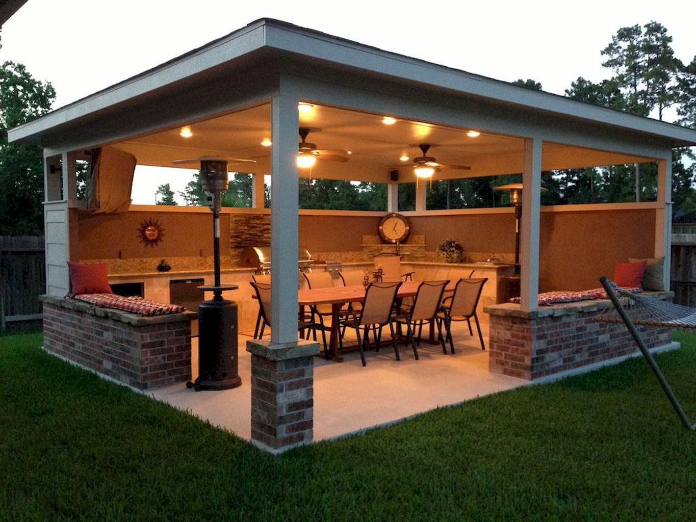 Insulated Roof Pergola with Lighting