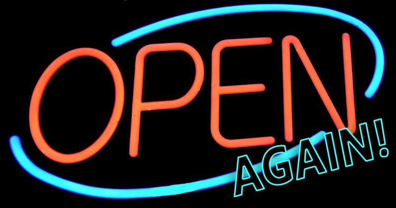 Open Again Blog Header