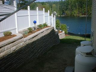 A Salem, NH home with hardscaping.