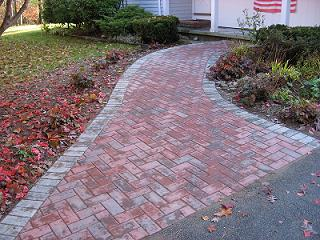 Hardscaped path in Hampstead, NH