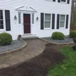 New Belgard Walkway, Boarder, Drainage and Plantings. Plaistow NH