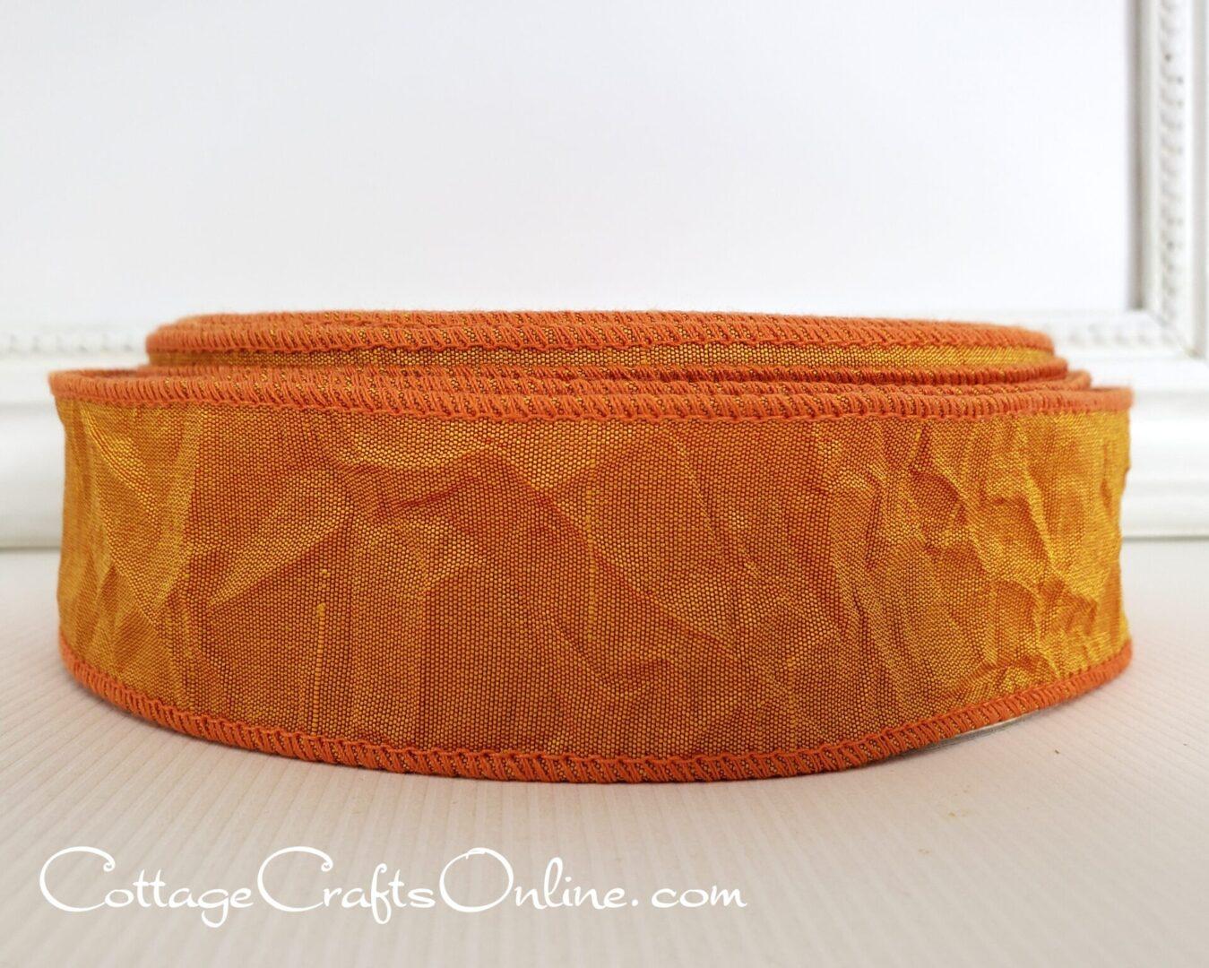 butternut squash orange crushed silk taffeta cb 9 25-004