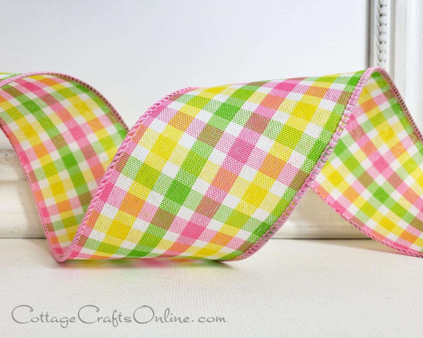 madras pink yellow green 40 ol-005