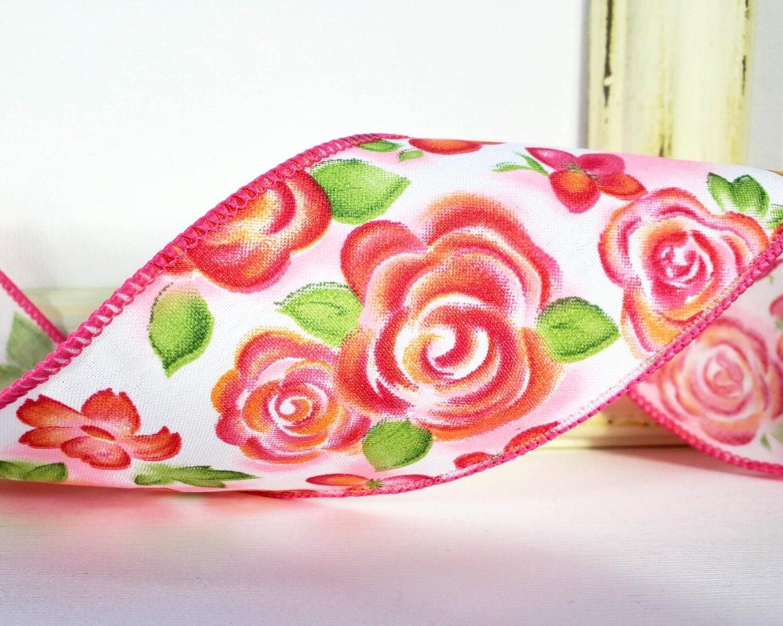 rosalie rose flower floral print pink ol-016