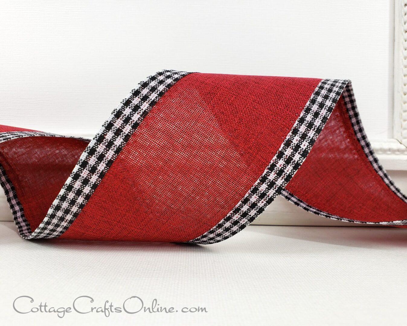 samuel burgundy red check edge linen cb rg a 109 9me-004