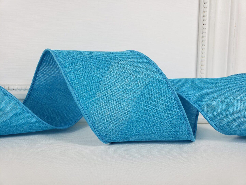 turquoise blue royal divine linen look 3 ol