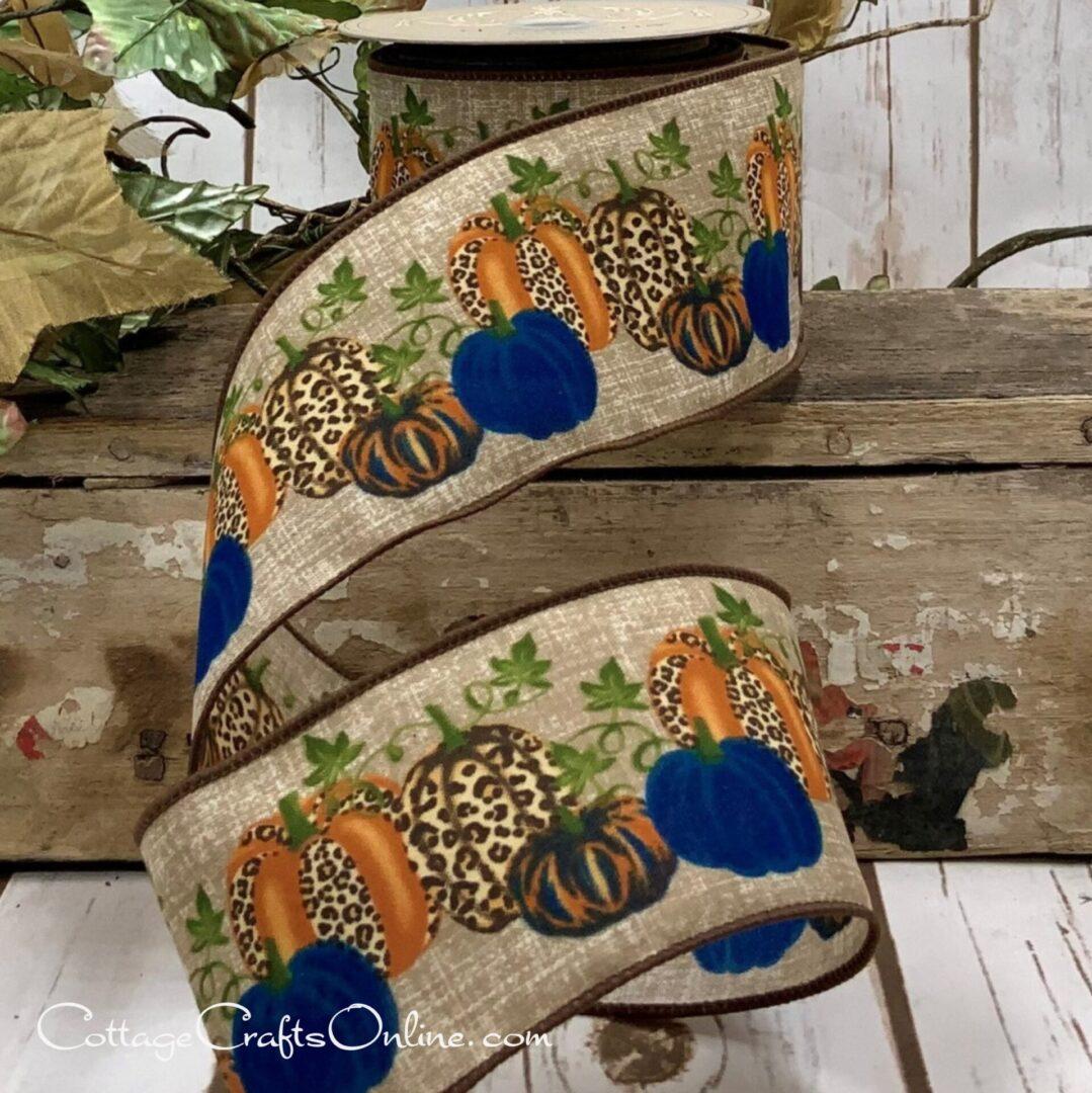 15-7460 ds navy blue leopard pumpkin 40-002